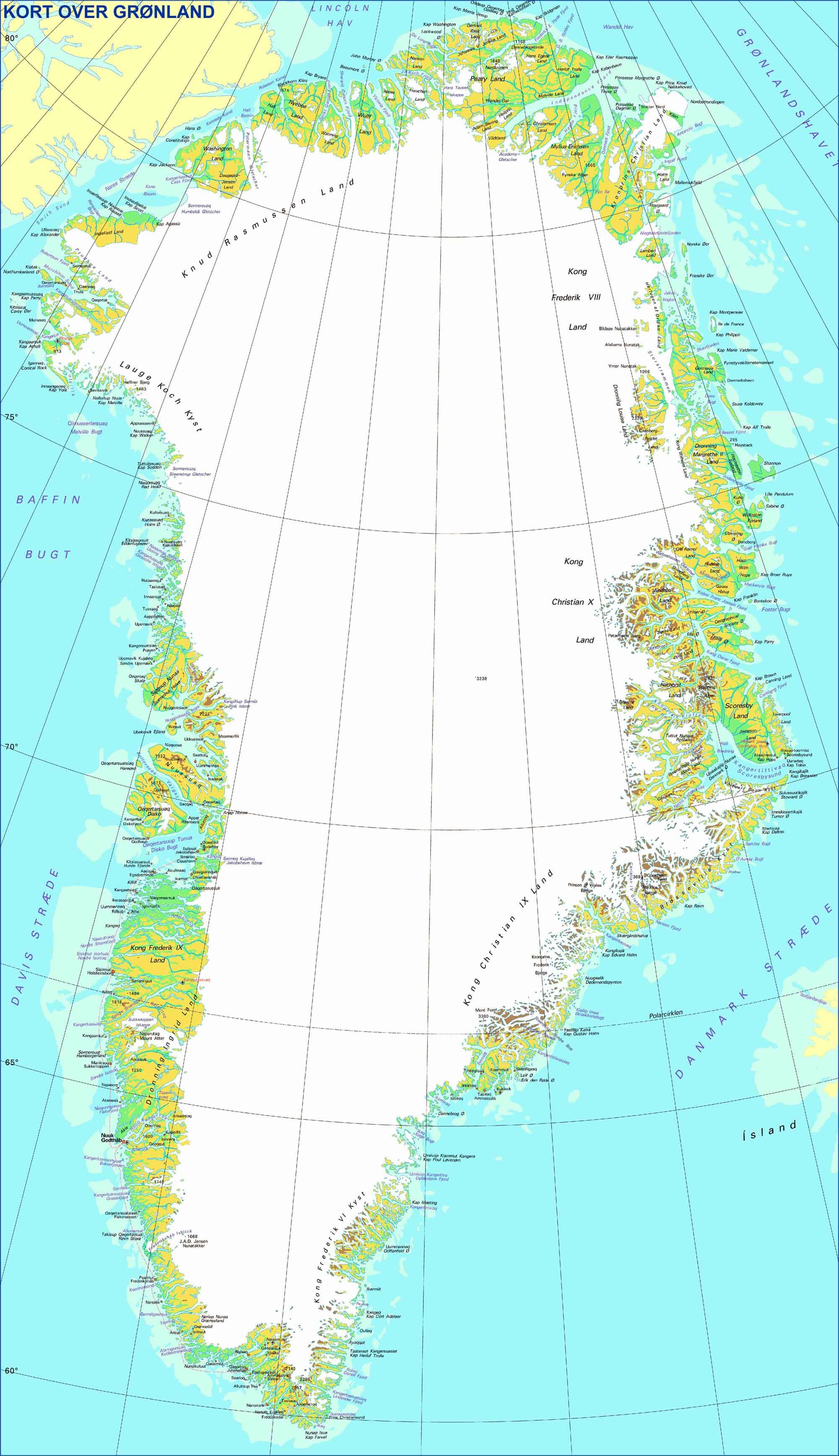 grönland karte Arctic Summits Expedition